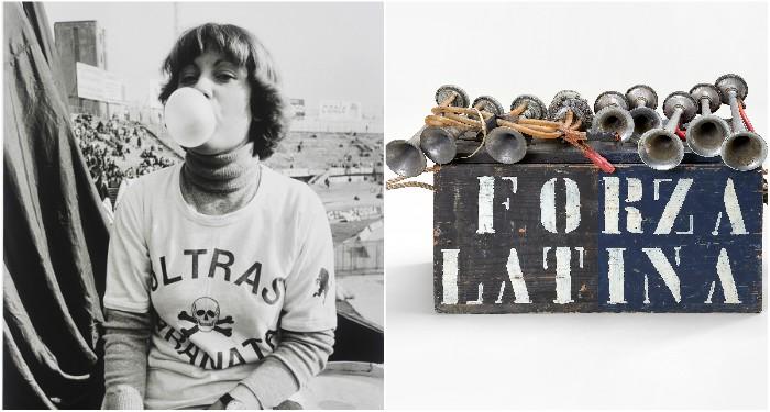 """""""Ultra Granata"""" avec chewing gum de Daniele Segre, """"Caisse de klaxons"""" Ultra Latinas (DR : Mucem / Y.Inchierman)"""