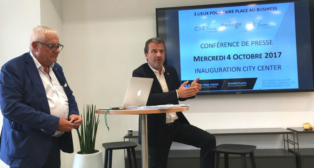 Jean-Luc Chauvin, le président de la CCI MP et Paul Chaffard,