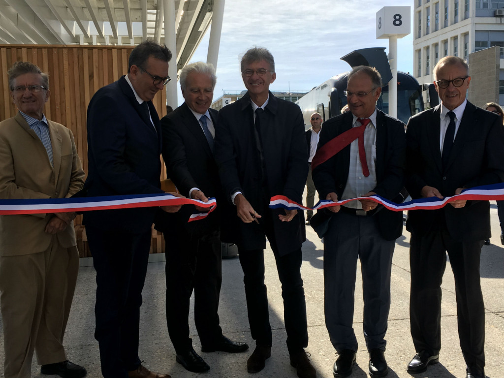 inauguration gare routière aéroport Marseille Provence