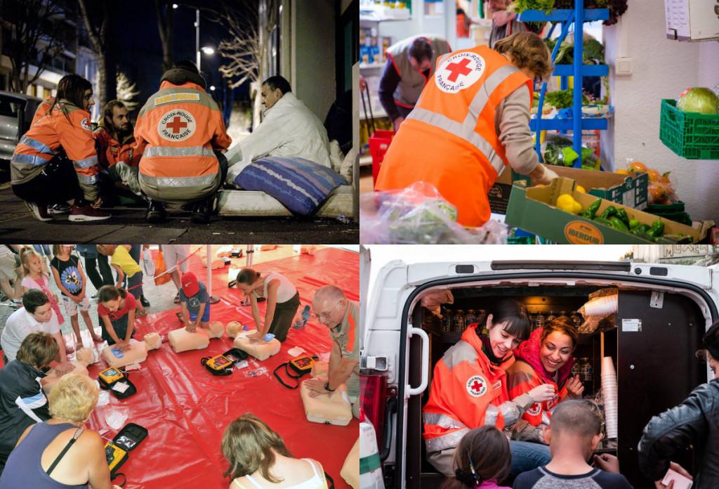 Les différentes missions de La Croix-Rouge. Crédit photo : Croix-Rouge.