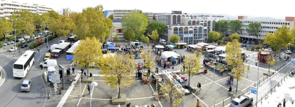 La place Romée de Villeneuve // Crédit : Mairie Aix