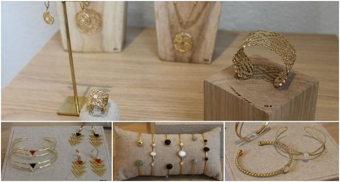 Du choix chez Emma & Chloé parmi ses collections en laiton doré à l'or fin et pierres fines.