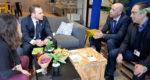 Jean-Marc Zulesi, dans les locaux de Solamat-Merex à Rognac, a l'occasion du lancement de l'opération «Le rendez-vous de l'entreprise #1».