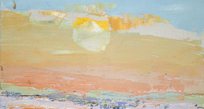 Ciel du Vaucluse - Nicolas de Staël 1953, huile sur toile, 16 x 24 cm