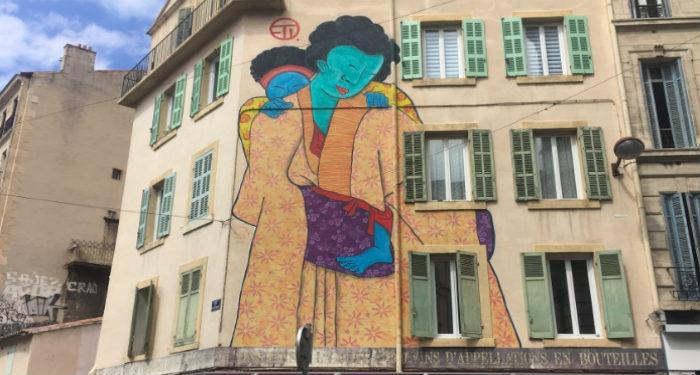 Une fresque du cours Julien à Marseille