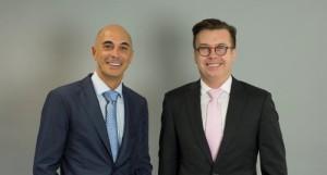 A droite, Olivier Tahon, le directeur général de Parlym. A sa gauche, Johann Charrier, le P-dg.