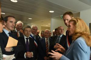 Nicole Belloubet a également inauguré le nouveau Palais de Justice de Martigues. DR