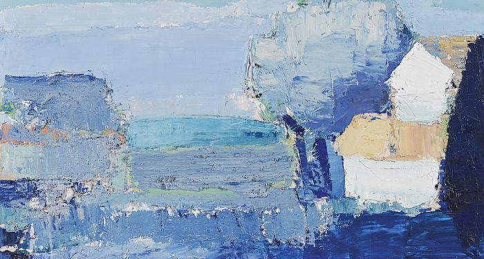 Nicolas de Staël - Paysage de Provence, 1953, huile sur toile, 33 x 46 cm,