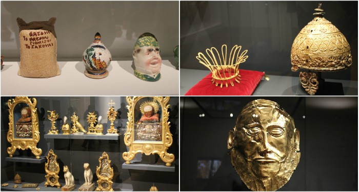 Du populaire au sacré, de l'ancien au contemporain : différents objets - quelques uns des objets exposés au Mucem.