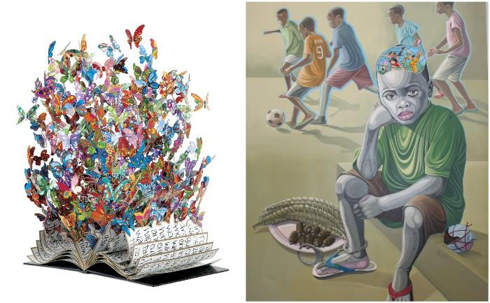 Book of Life de David Kracov (Bel Air Fine Art Gallery) - Enfance volée de Tagne William (Galerie La Cryde)