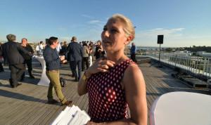 Vanessa Douet-Vannucci, la directrice de On[e]Life sur e toit-terrasse de l'immeuble Quanta (Crédit photo Ted Alter/Gomet')