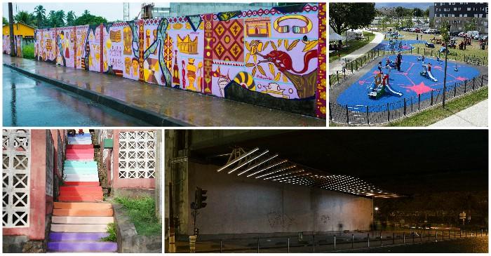 art mural dans le villes de Grigny, Mayotte, Paris