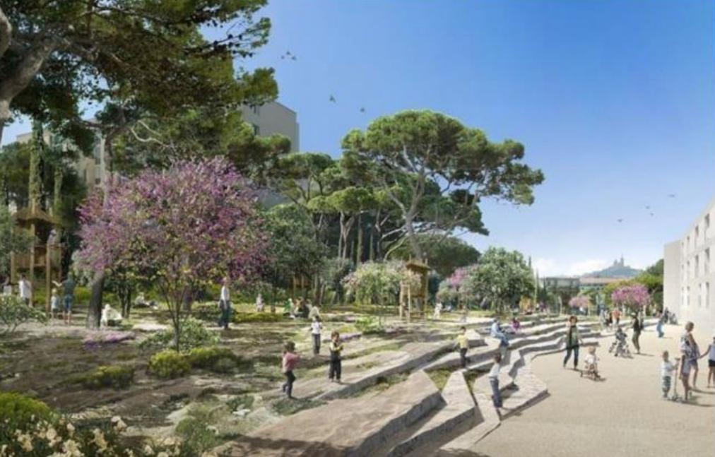 parc urbain Porte d'Aix