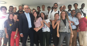 Lionel Royer-Perreaut lors de sa visite à thecamp le 25 juillet