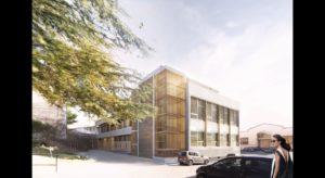 Le bâtiment M du campus réhabilité par le cabinet d'architecture Adrien Champsaur.