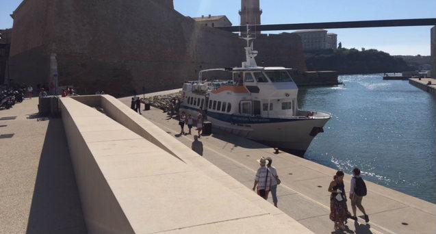 Le nouveau point de départ des navettes vers le Frioul durant deux mois (Photo JFE/Gomet')
