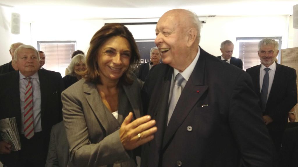 Martine Vassal, nouvelle présidente de la Métropole Aix-Marseille Provence et Jean-Claude Gaudin, maire de Marseille. Photo N.K.