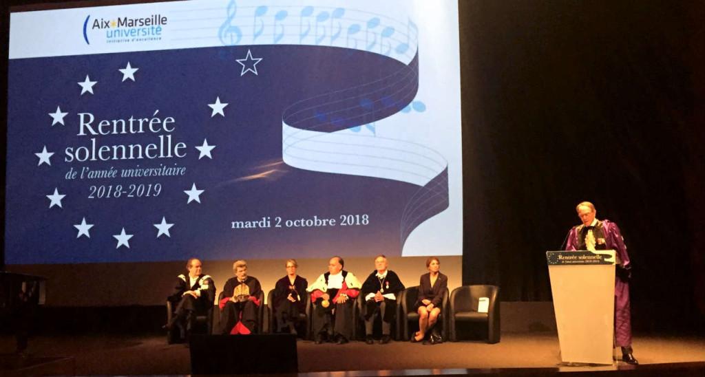 Yvon Berland et les recteurs des universités partenaires d'Amu (Photo JFE/Gomet')