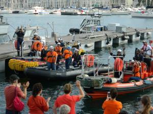 Les marins sauveteurs de l'Aquarius ont fait escale au Vieux Port. Photo : S.P.