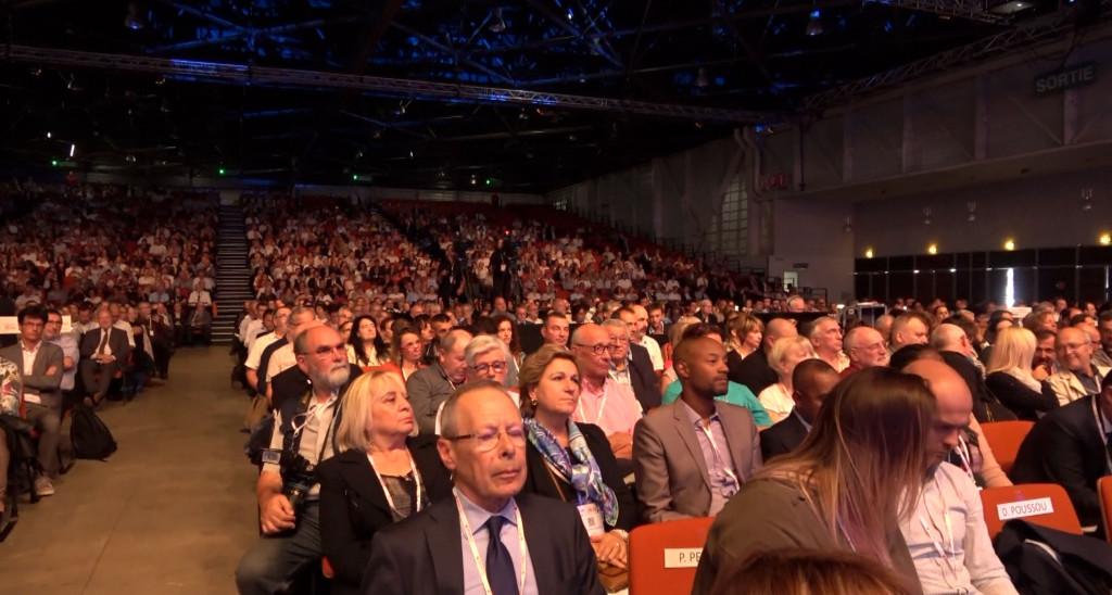 Plus de 4000 congressistes ont assisté au discours d'ouverture, au Parc Chanot à Marseille. Photo N.K.