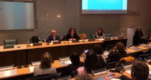La préfète à l'égalité des chances, Marie-Emmanuelle Assidon, a représenté les emplois francs aux chefs d'entreprises à la CCI Marseille Provence