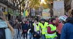 Des gilets jaunes dans la manif pour le climat le 8 décembre 2018 à Marseille (Photo SP)