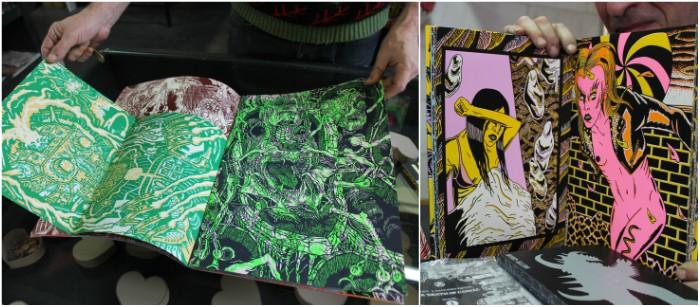 Couleurs et horreur... du vide caractérisent les graphzines (© Dominique Villanueva)