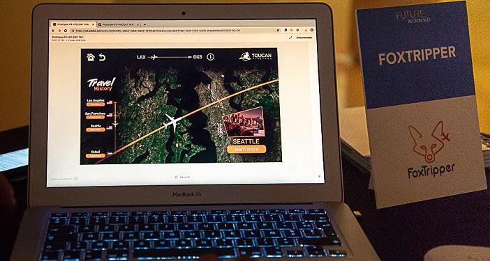 Foxtripper propose aux passagers d'un avion de gérer leur voyage pendant le vol