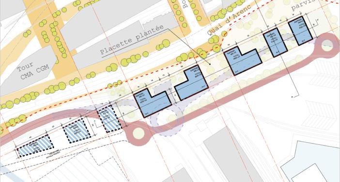 En tout, le port prévoit de réaliser cinq immeubles de bureaux sur ses terrains