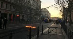 La Canebière samedi 8 décembre 2018 fin d'après-midi (Photo SP/Gomet')