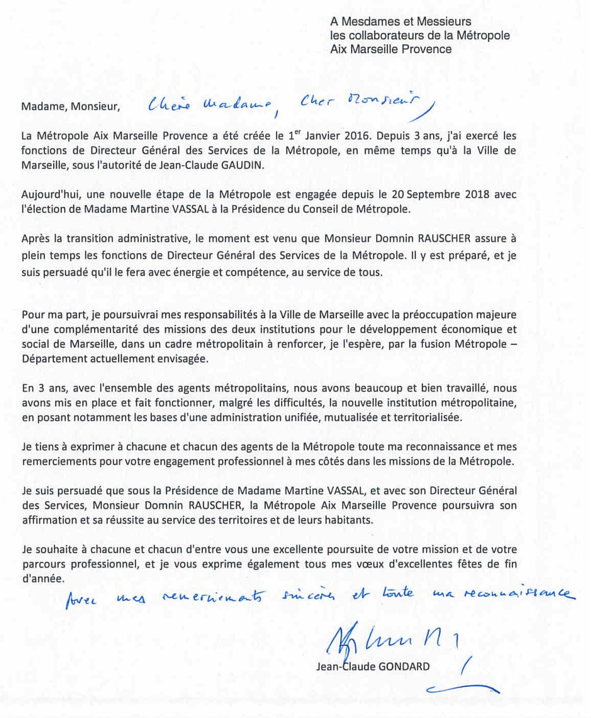 Jean Claude Gondard Quitte Ses Fonctions De Dgs De La