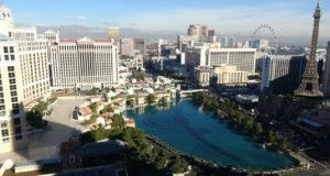 Le centre de Las Vegas, ville hôte du CES (Crédit Gomet'/JFE).