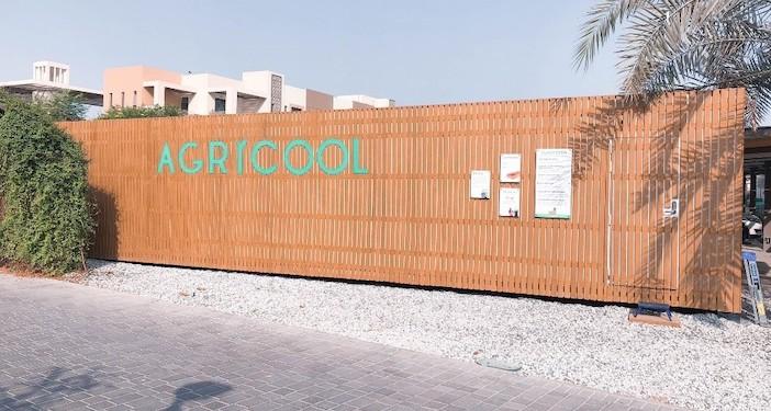 Le cooltainer installé par Agricool à Dubaï avec l'appui de CMA CGM