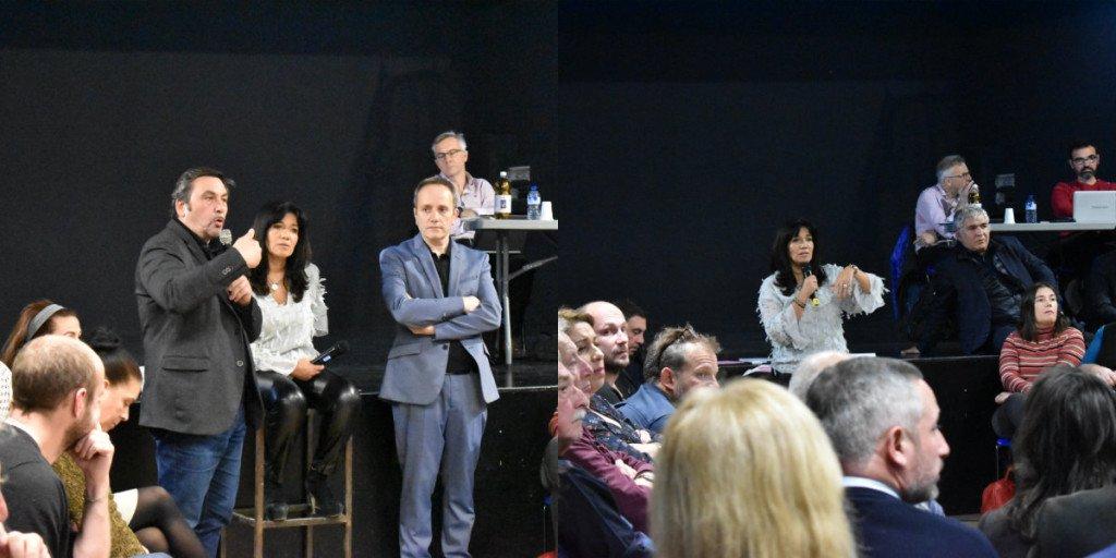 A l'image de Jean-Marc Coppola (PC) ou Christophe Madrolle (UDE) d'autres élus ont participé à ce grand débat. Photo N.K.