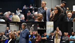 La sénatrice PS Samia Ghali a organisé un grand débat citoyen dans le 15e arr. de Marseille, mercredi 13 février. Photos N.K.