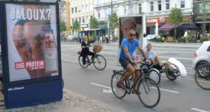 Le vélo, un mode de transport roi à Copenhague (Photo JFE/Gomet')