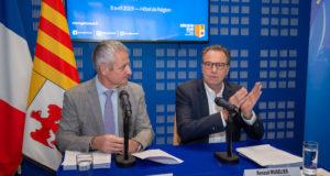 Renaud Muselier, président de la Région Provence-Alpes Côte d'Azur, et Alain Dumort, Chef de la Représentation de la Commission européenne à Marseille