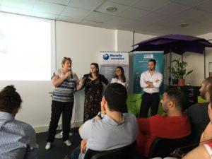 Christine Cerrato, responsable de Paca Emergence, a présenté le fonds aux startups de Marseille Innovation