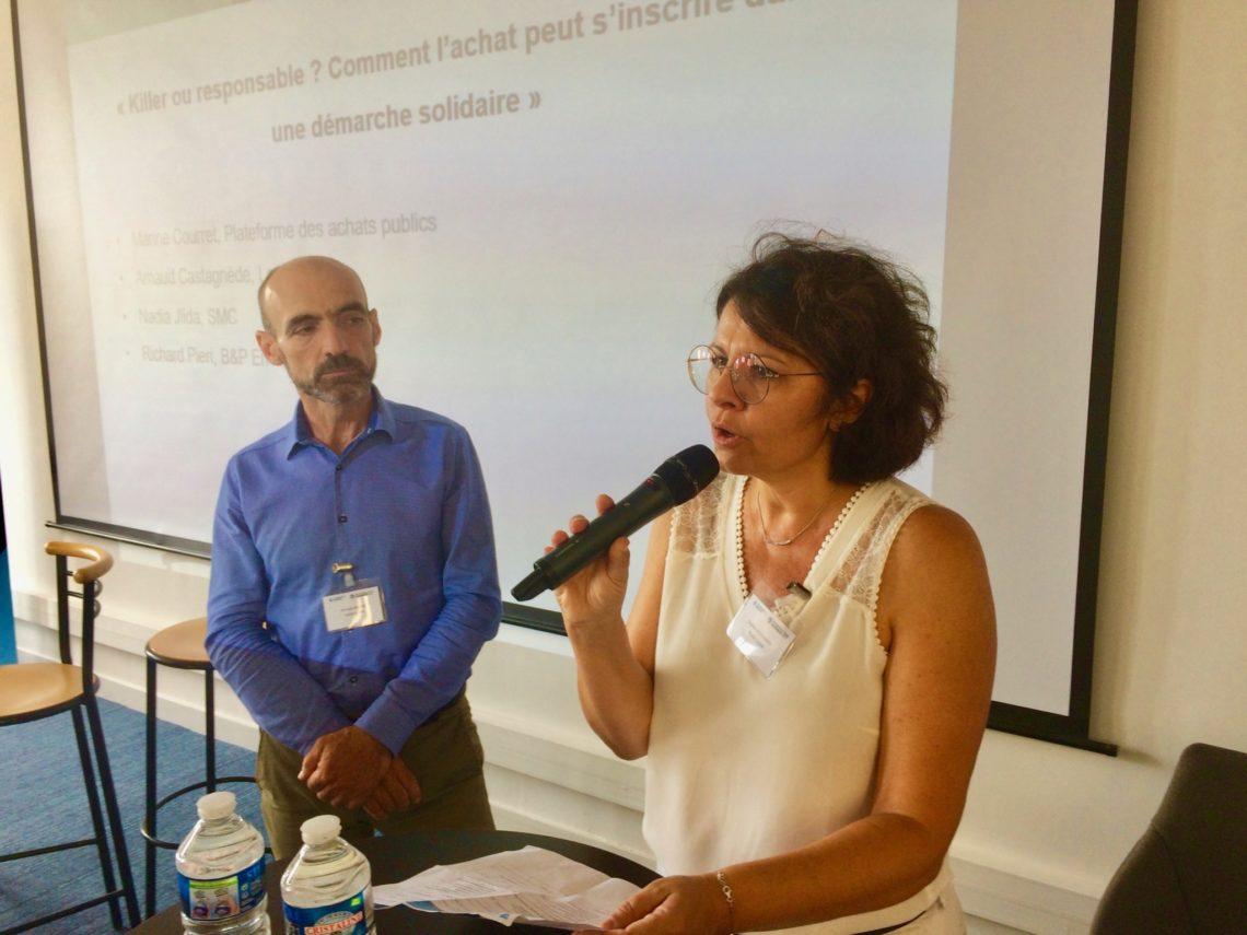 François Ranise, chef d'entreprise (Profil) et Sophie Deschamps, responsable du service performance et développement du business (Photo CA).