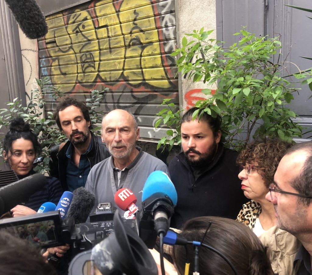 De membres du collectif du 5 novembre réunis lundi 4 novembre 2019 à la veille du jour anniversaire de la catastrophe de la rue d'Aubagne (Photo CE).