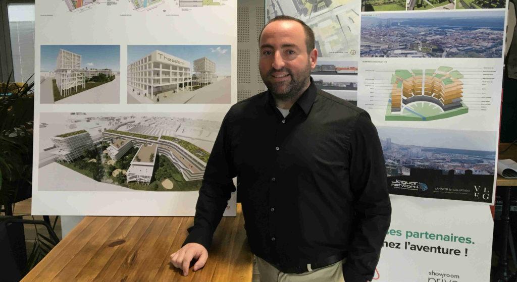 Kevin Polizzi le 5 mars 2020 lors de la présentation du projet immobilier Theodora (Crédit RM)