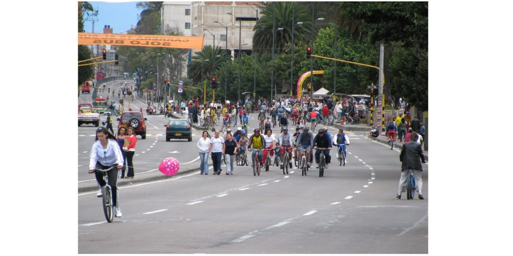 Ciclovia de Bogota, en Colombie