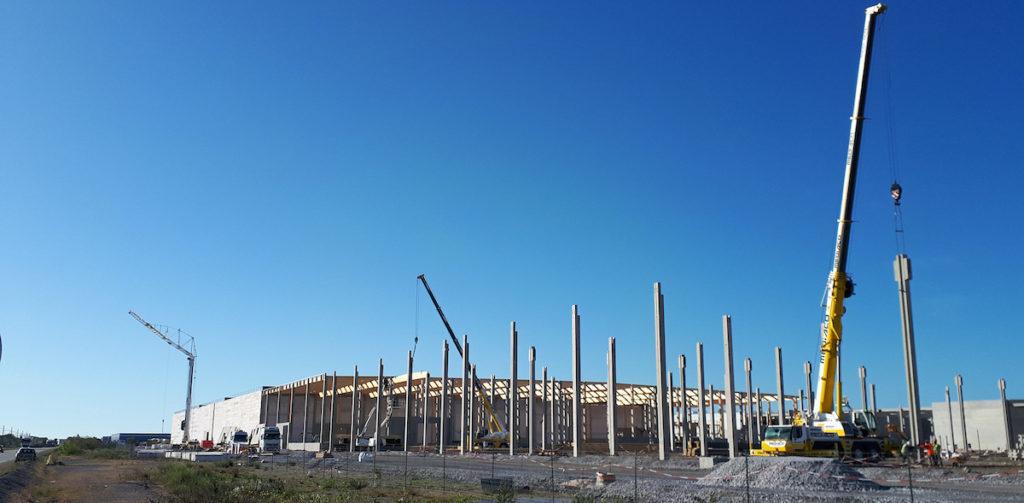 Mediaco Vrac construit un nouveau bâtiment de 70 000 mètres carrés sur Distriport (Crédit Mediaco)