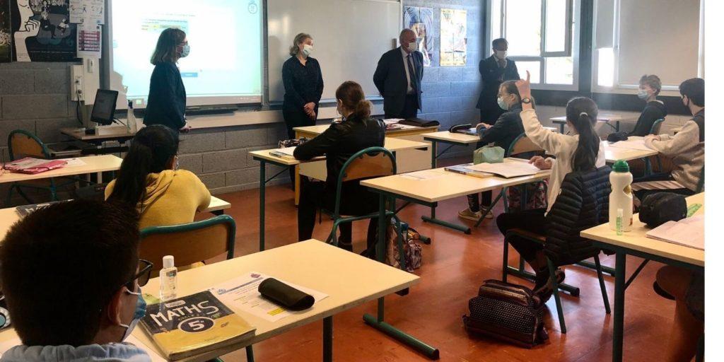 L'heure de la rentrée a sonné pour les collégiens de 6e et 5e (crédit : Assemblée des départements de France via Twitter)