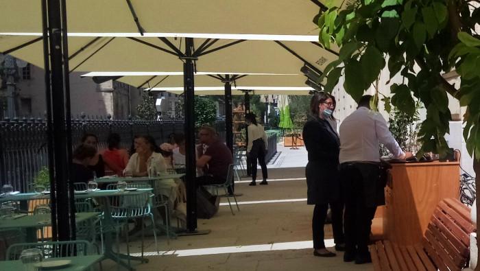 La brasserie-restaurant du Palais de la Bourse a ouvert ses portes jeuid 13 août 2020 (Crédit: Gomet'/SM).
