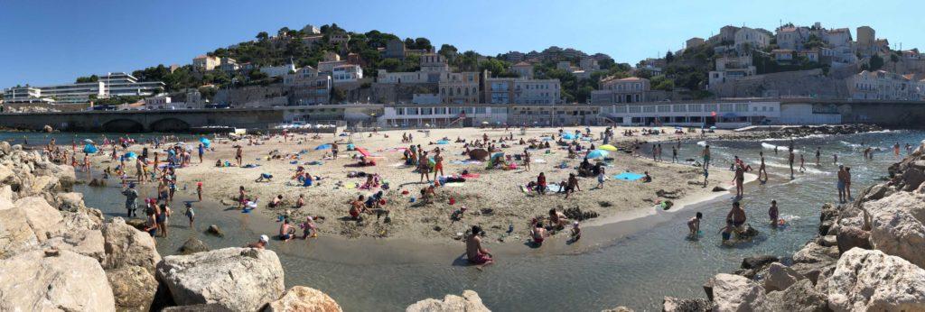 La plage du Prophète dans le 7e arrondissement de Marseille (crédit Gomet'/JFE 2020)