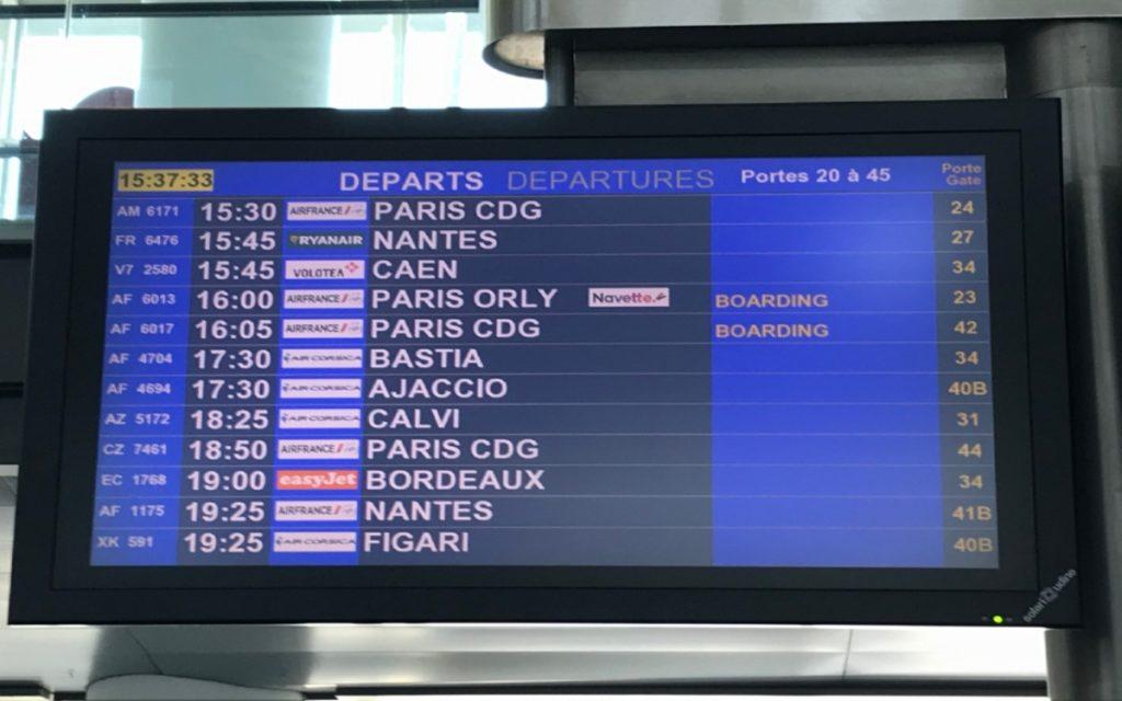 Vols depuis Marseille Provence, 28/08/2020.