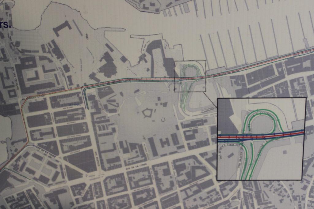 Version 1 du projet de piste cyclable