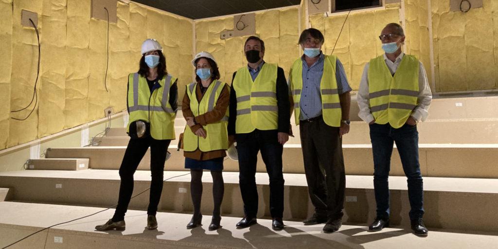 De gauche à droite: Mathilde Chaboche, Sophie Camard, Jean-Marc Coppola, Philippe Dejust et Jean-Jacques Leonard, DG d'Artplexe (Crédit RM)