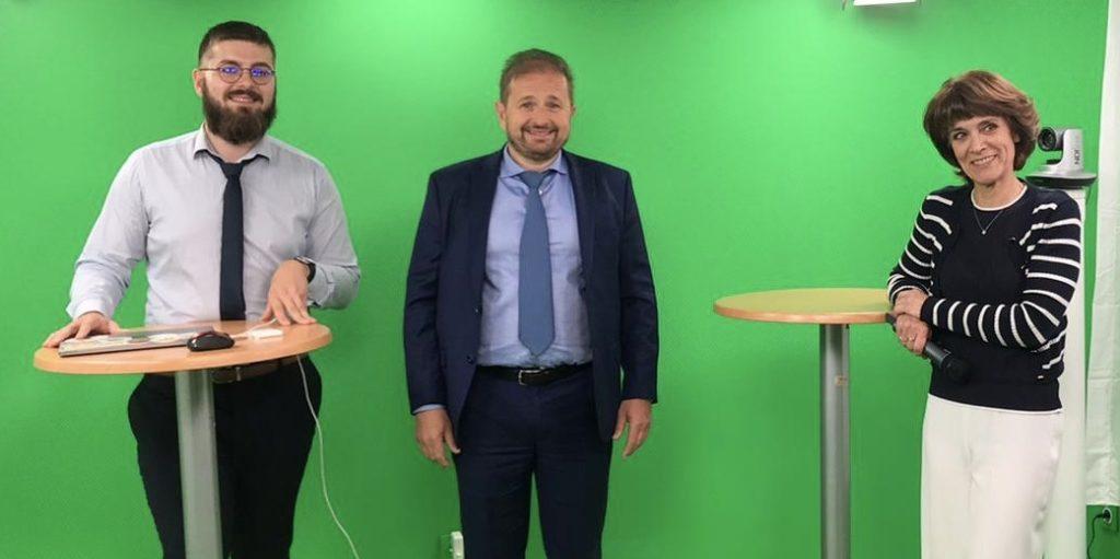 Alexy gargani Alexy Gargani a présenté la plateforme de salon virtuel Alga (Crédit DR)
